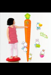 Наклейка ростомер. Морковка