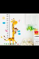 Наклейка ростомер. Жираф