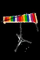 Металлофон цветной 15 нот на стойке