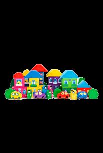Конструктор Цветной городок